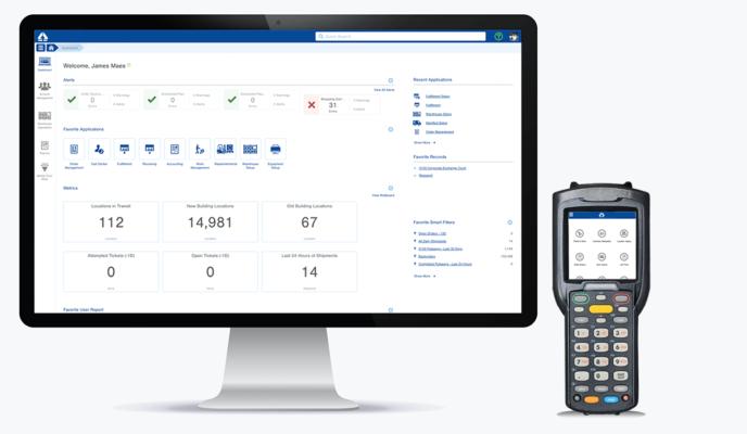 A screenshot of a warehouse management system's interface